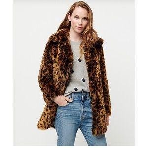 J.Crew Leopard faux-fur coat - Size XS